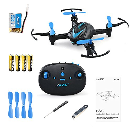 JJRC H48 B&G Mini Quadcopter Pocket Drone 3D Flip and Rolls 2.4Ghz 4CH 6-Axis Gyro RC Nano Quadcopter Palm Size Mini Drone with Led Lights Easy Playing-Blue