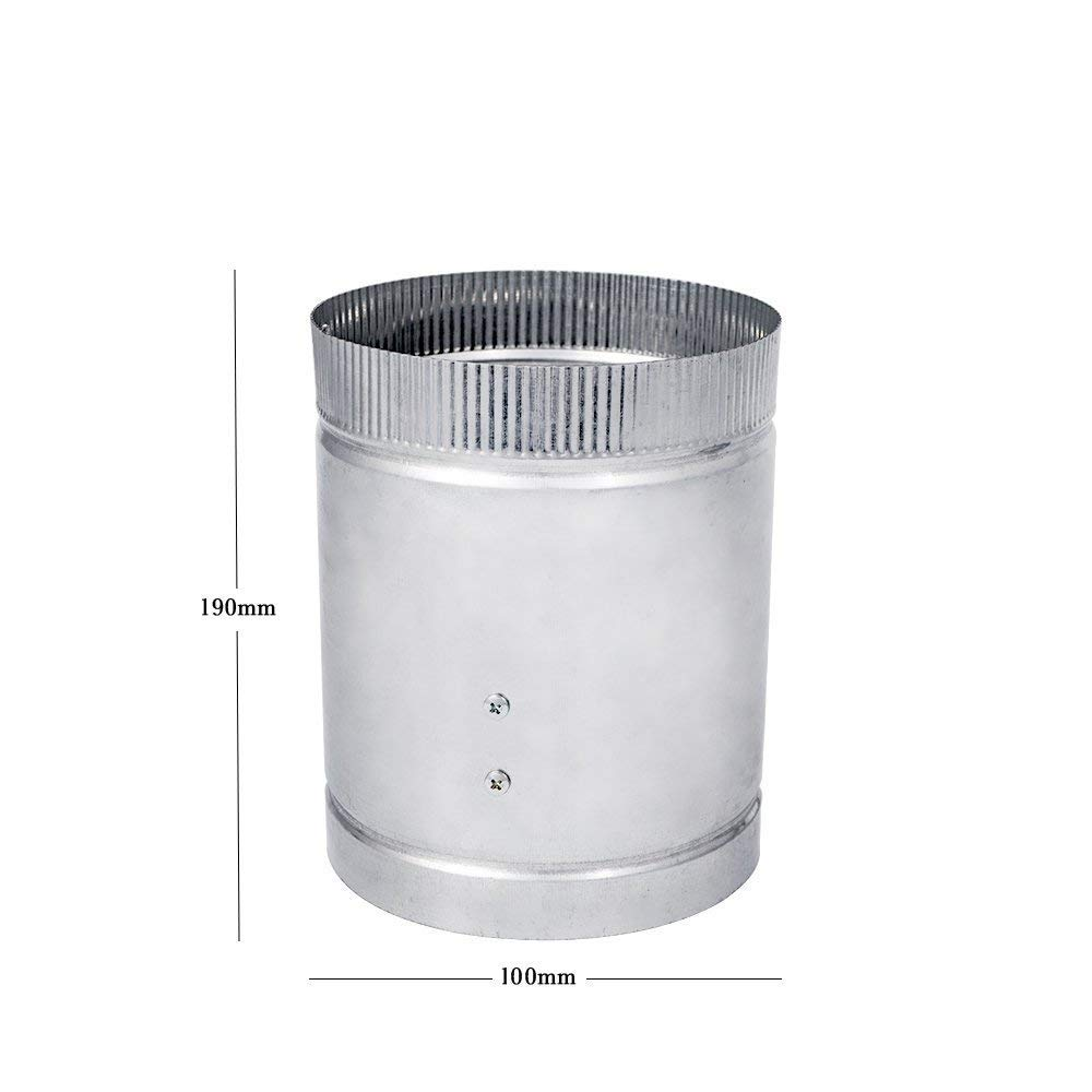 Metall, /ø150mm Hon/&Guan Inline-Rohrventilator Abluftventilator Axialventilator