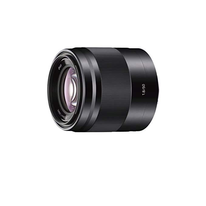 Sony Sel50 F18 E Mount Aps C 50 Mm F1.8 Prime Lens   Silver by Amazon