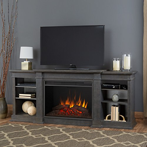 Real Flame 1290E-AGR 1290E Eliot Grand Entertainment Unit with Electric Fireplace in (Fireplace Unit)