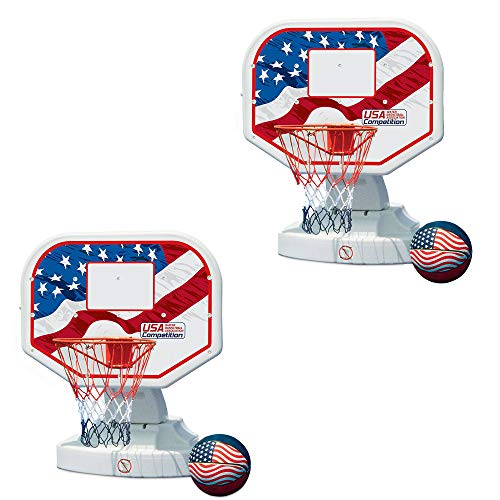 Poolmaster USA Competition Poolside Basketball Outdoor Pool Game & Ball (2 Pack)