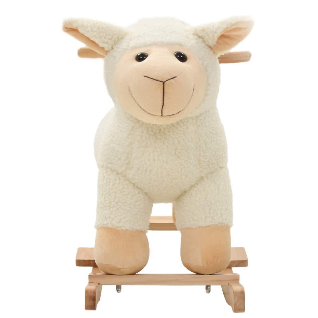 vidaXL Mouton /à Bascule Peluche Blanc Animal Basculer pour B/éb/é Jouet Enfant