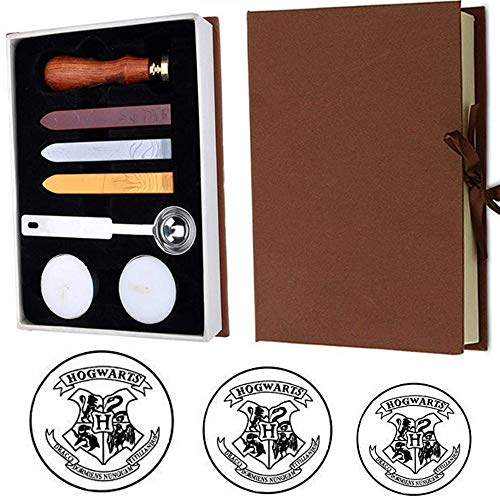 (VIHOME Magic School Badge for Hogwarts Magic School Wax Seal Stamp Kit Retro Stamp Maker Kit Great for HP Fans and Christmas Day(Hogwarts))