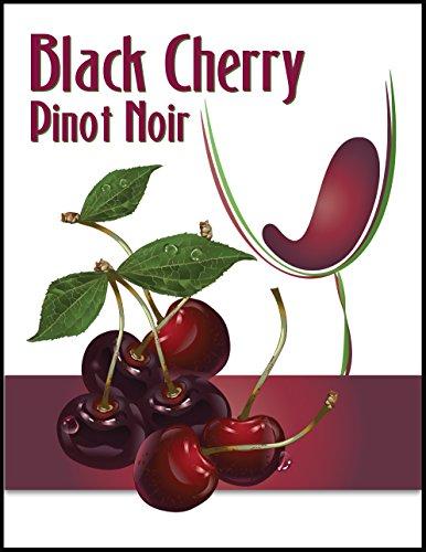 Black Cherry Pinot Noir Wine Bottle Label ()