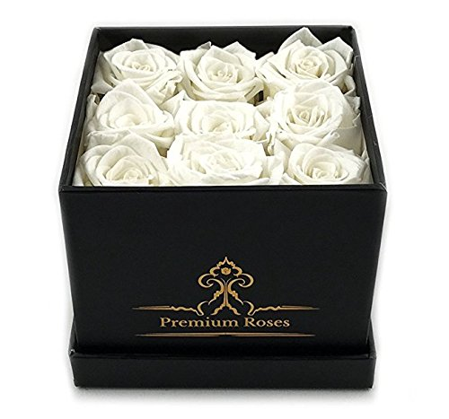 White Roses in the Box| Forever Roses