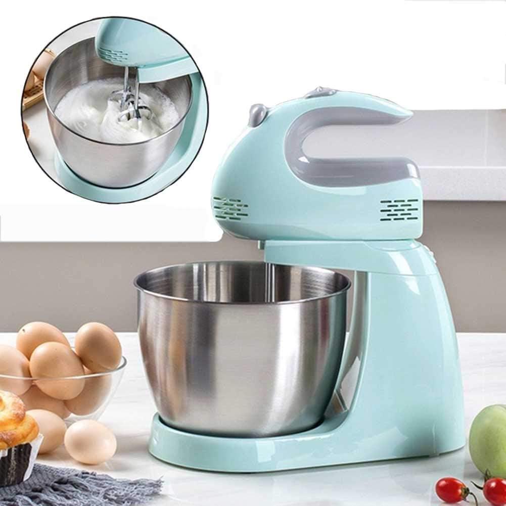 Robot Cocina,Batidora Amasadora,3 L Mezcla Acero Inoxidable Bowl, 150W Con Cabeza Inclinable Mezclador De Alimentos,5 Velocidades Mezclador Cocina Eléctrica: Amazon.es: Hogar
