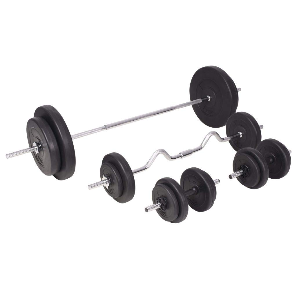 Festnight Fitness Hantel Set Sport Hanteln Langhantel und Kurzhantel Set Gesamtgewicht 90 kg
