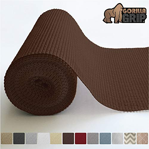 Gorilla Grip Original Drawer and Shelf Liner, Non Adhesive Roll (20 Inch x 20 FT) Durable and Strong, Grip Liners for Drawers, Shelves, Cabinets, Storage, Kitchen and Desks (Chocolate)