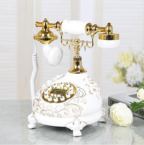 (Phone EuropeanStyle Living Room Antique Telephone Home Bedroom Creative Retro Telephone FixedLine Fashion Old Plane Wired Telephone (Color : A1))