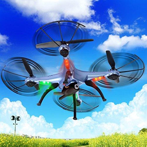 Safstar Syma X5HW FPV Drone 2.4GHz 4CH 6 Axis RC Headless Quadcopter UFO with HD Wifi Camera (Blue) by Safstar