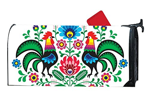 Penny McCarthy Scratch The Rooster Magnetic mailbox cover Yard Magnetic