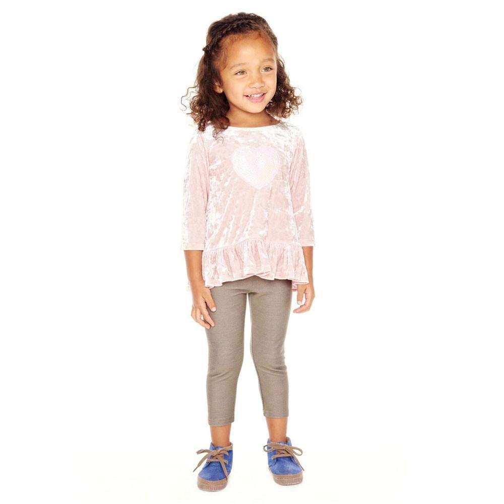 PIPPA /& JULIE Lily Pink Velvet Legging Set
