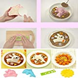 Crazydeal 4PCS Cute Rabbit & Dolphin Sushi Maker Rice Onigiri Mold Mould Punch DIY Bento