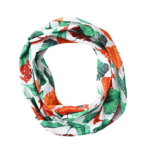 Price comparison product image Clearance Sale! MatureGirl Women Print Winter Convertible Infinity Loop Scarf Zipper Pocket Scarves Travel Scarves (White)