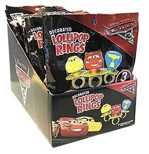 Disney Pixar Cars 3 Lightning McQueen Cruz and Piston Cup Lollipop Rings, 3 (12 Pack-36 Rings)