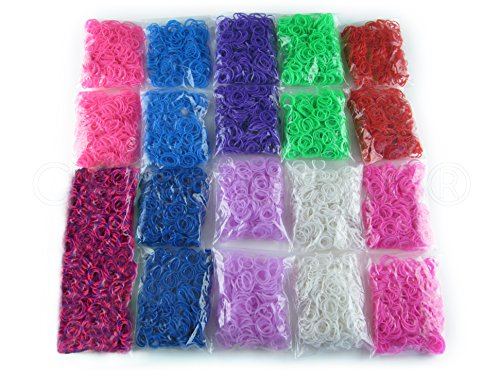 10,000 Piece Loom Band Refill Kit - Mega Refill Pack - 10 Colors - 10000 Rainbow Colored Bands (Rainbow Loom C Clips Only compare prices)