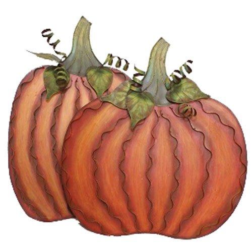 Round Top Medium Wide & Medium Tall Pumpkin Pair