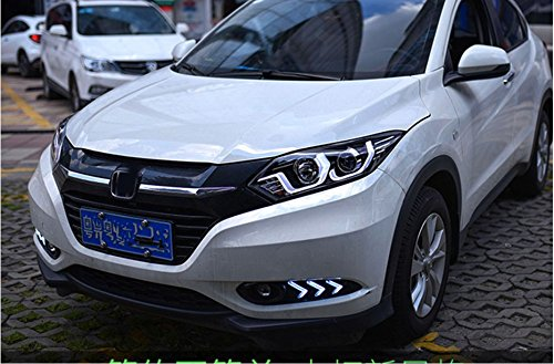 GOWE Car Styling For honda HRV headlights For VEZEL HRV LED head lamp Angel eye led DRL front light Bi-Xenon Lens xenon HID Color Temperature:6000K;Wattage:35K 3