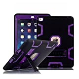 iPad Mini Case, iPad Mini 3 Case, TabPow [Shockproof][Drop Protection][Heavy Duty] Rugged Triple-Layer Defender Hybrid Case Cover With Stand For Apple iPad Mini 1 2 3 (Retina Display) (Purple)