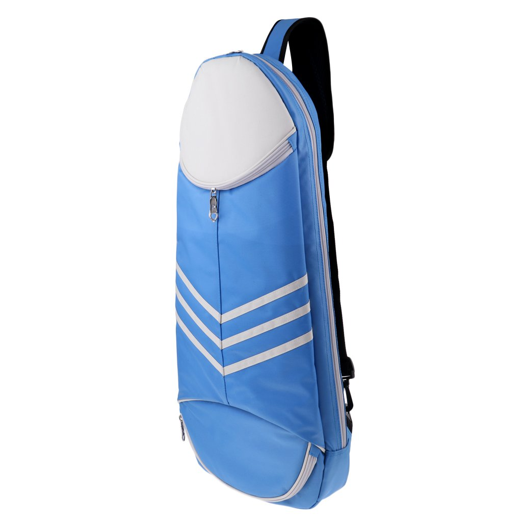 Homyl Cross-Body Racket Backpack Bag for Tennis, Badminton, Travel & Hiking - Blue, 69.5x32.5CM