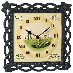 Grasslands Road Cucina Buona Notte Buon Giorno Tuscan Wall Clock