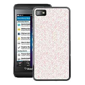 A-type Arte & diseño plástico duro Fundas Cover Cubre Hard Case Cover para Blackberry Z10 (Pink Peach Vintage White Wallpaper)