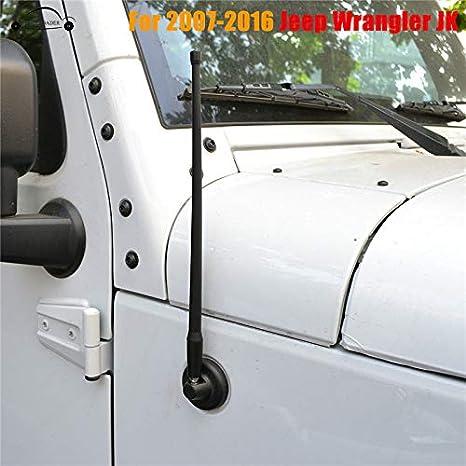 GOZAR Negro 13 Pulgadas Fm Am Se/ñal Antena A/érea Para Jeep Wrangler Jk 07-16
