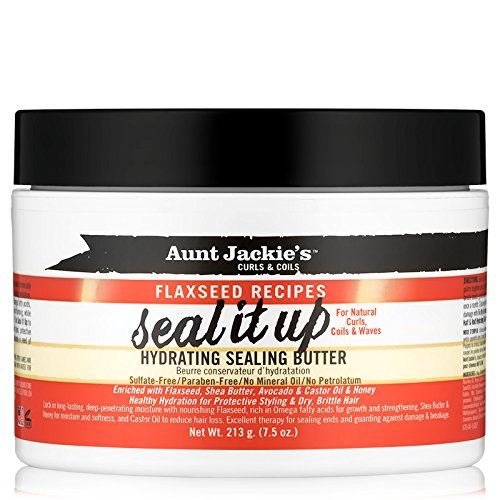 Aunt Jackie's Flaxseed Recipes Seal It Up, Hydrating Sealing Butter, Helps Prevent and Repair Damaged Hair, 7.5 Ounce Jar (Best Hair Products For 4b Hair)