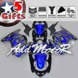 Addmotor Injection Molded Fairing Fit NINJA EX250 250R 2008 2009 2010 2011 2012 blue Flame