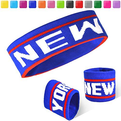 Acokac Basketball Sweatbands Set, Sports Headbands Wristband for Men Women (New -