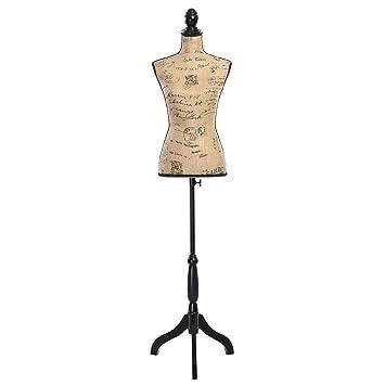 Amazon.com: Giantex Female Mannequin Torso Dress Form Display W ...