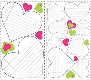 Pizarra de notas en forma de corazón pegatinas de pared