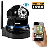 UOKOO Wireless Camera, Full HD 1080P WiFi Security Camera with Pan/Tilt, 2-Way Audio and Night Vision use for Pet Monitor, Puppy Cam, Baby Monitor, Nanny Camera and Wireless IP Camera(620GA)