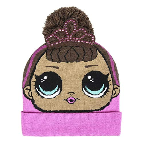 Lol Surprise Gorro con Aplicaciones LOL Cappello Invernale Pompon Punto, Multicolore (Rosa 48), Talla única Unisex…