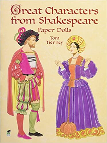 Shakespeare paper dolls