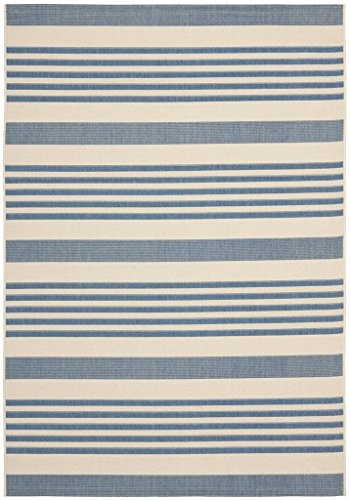 Safavieh Courtyard Collection CY6062-233 Beige and Blue Indoor/ Outdoor Area Rug (5'3
