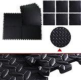 48 Sq FT Foam EVA Tiles Mat Floor Mattress Topper Gym Black Interlocking offers