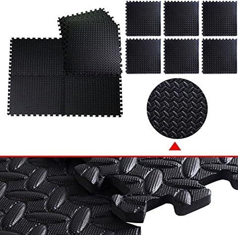 48 Sq FT Foam EVA Tiles Mat Floor Mattress Topper Gym Black Interlocking - Imation Is A Carrying Case