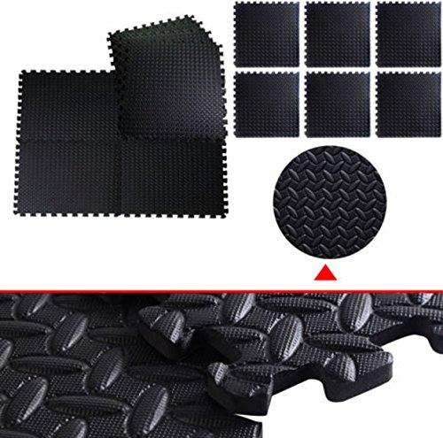 Halo Custom Armor Costumes (48 Sq FT Foam EVA Tiles Mat Floor Mattress Topper Gym Black Interlocking)
