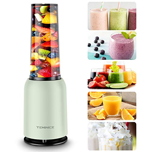 Updated 2019 Version Professional Personal Countertop Blender for Milkshake, Fruit Vegetables Drinks, Ice, Small Mini Portable Single Food Bullet Blenders Processor Shake Mixer Maker with Cup,15 Ounce