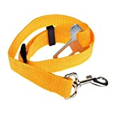 Mikey Store Vehicle Car Seat Belt Seatbelt Harness Lead Clip Pet Cat Dog Safety (Yellow)