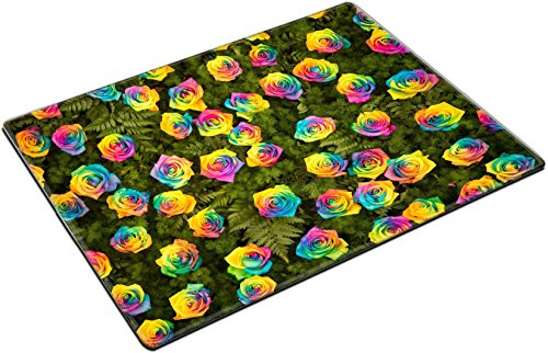MSD Place Mat Non-Slip Natural Rubber Desk Pads design 35827719 The walls are adorned with a rainbow roses and fern leaves