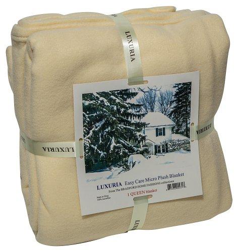 Italian Collection LUXURIA Micro Plush FULL Blanket, CREAM (Italian Bed)
