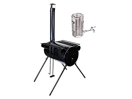 TMS Portable Military C&ing Wood Cooking Ice Fishing Cook Stove Tent Heater With Water Kettle Teapot  sc 1 st  Amazon.com & Amazon.com : TMS Portable Military Camping Wood Cooking Ice ...