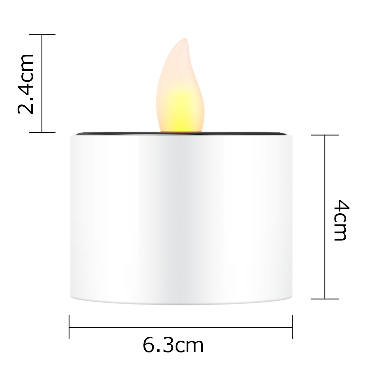 Solar Candles Flameless Rechargeable Candles LED Tea Lights Candles Battery Operated Upgraded Solar Power Waterproof Warm White Candle Set of 6 for Home Bar Bedroom Living Room Garden Outdoor Indoor by EXPOWER (Image #3)
