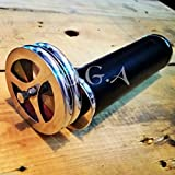 Antique Brass Kaleidoscope Double Wheel Leather Wrapped Nickel Finish Telescope Humaira Nauticals