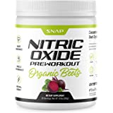 Pre Workout Beet Root Powder - Organic Nitric Oxide Pre Workout Booster, Natural Energy & Blood Flow - Beets Superfood Suppor