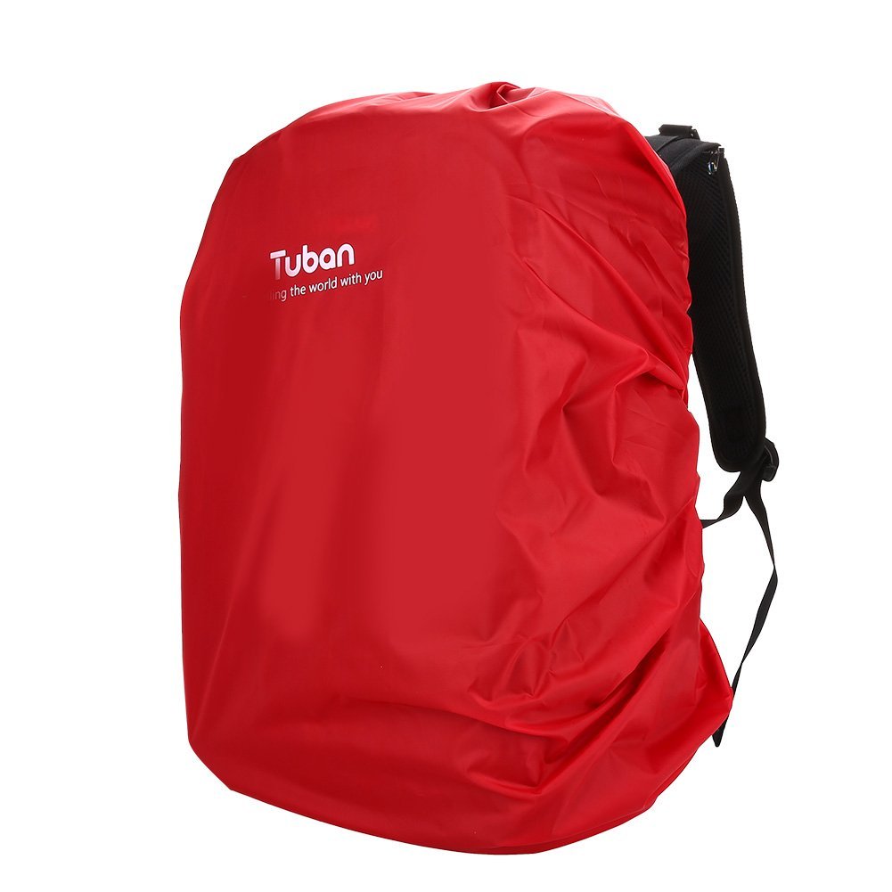 Alomejor Backpack Rain Cover, Waterproof Dustproof Backpack Cover Nylon Portable Bag Cover for Camping, Hiking, Traveling Traveling(Black)