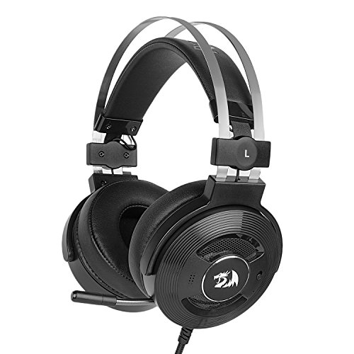 Redragon H991 TRITON Wired Active Noise Canceling Gaming Headset, 7.1 Channel Surround Stereo ANC Over-Ear Headphone with Microphone, Comfortable Leather Earbuds, with USB Port, Works for PC, ()