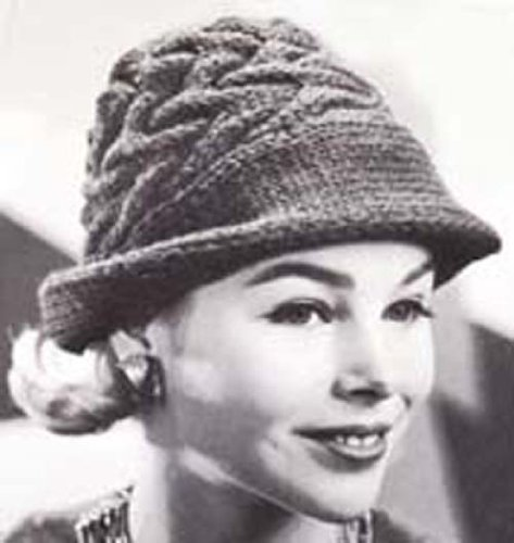 Knit Swagger Hat Vintage Knitting Pattern Fedora Hat Cap